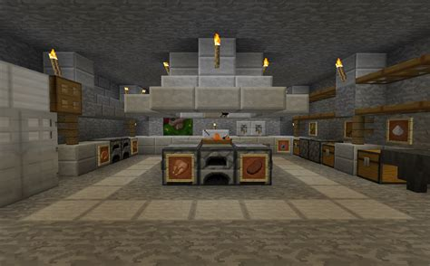 minecraft kitchen ideas minecraft projects minecraft kitchen with functional food dispensers