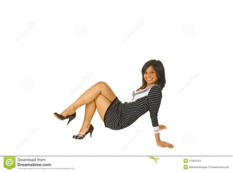 Floor Poses by Brown Posing On The Floor Stock Images Image