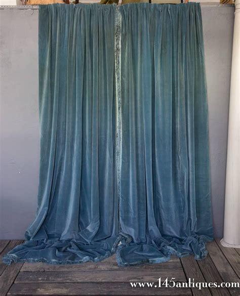 velvet drapes on sale three pairs of blue velvet drapes with valances for sale