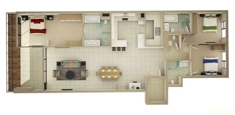 50 three 3 bedroom apartment house plans in 2018 unit
