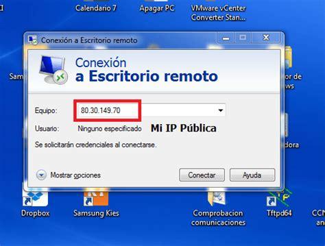 escritorio remoto windows 7 conexi 243 n a escritorio remoto con dns din 225 mica ragasys