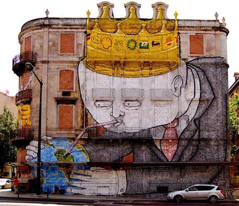 la street art  lambiente le opere  strada piu