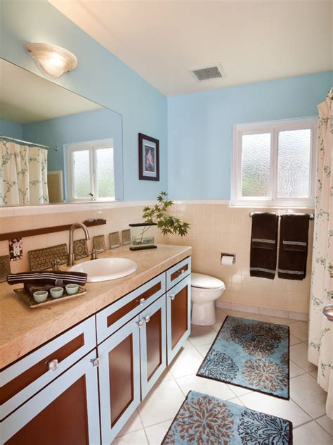 Brown Blue Bathroom Ideas 17 Best Images About Blue Brown Beige Bathroom Designs On Pinterest Blue And Seersucker And