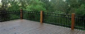 can aluminum fence material be used as a deck or balcony railing system