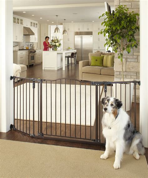 mypet windsor extra wide arch pet gate  dogs cats