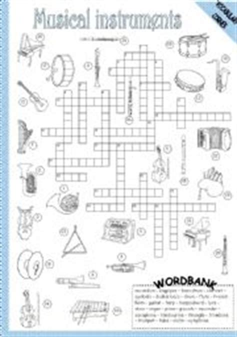 orchestra section crossword image gallery instrument crossword puzzle