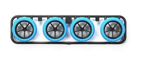 Large Diameter Carbon Wheel Tamiya tamiya 95254 arched tires blue with carbon reinforced large diameter narrow wheels