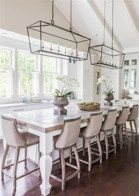 Rectangular Shaped Chandeliers Best 25 Kitchen Island With Stools Ideas On Pinterest