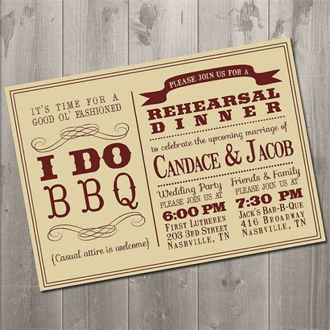 barbeque rehearsal dinner invitations i do bbq invitation wedding rehearsal dinner diy