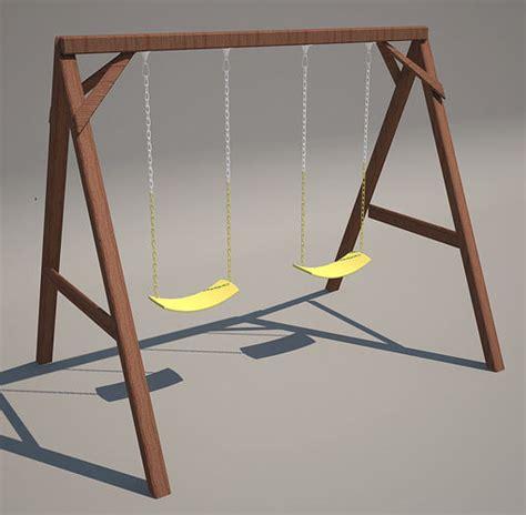 swing 3d model swing wood 3d model cgtrader