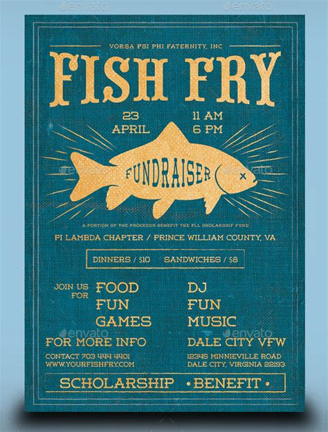 20 Fishing Flyer Templates Free Premium Download Free Fish Fry Flyer Template