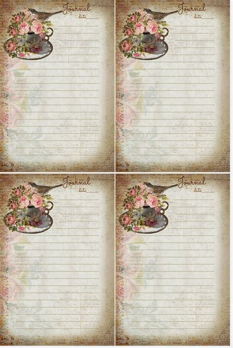 free journal card templates 17 best images about stationary pages on