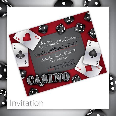 Casino Theme Party Invitations Cimvitation Theme Invitation Templates