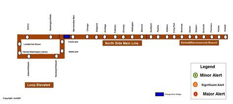 chicago brown line map cta rail service alerts cta rail chicago transit forum