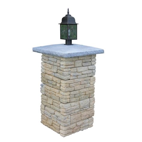 Patio Pillar Lights Shop Nantucket Pavers Meadow Wall Pier With Light Cap Variegated Pillar Patio Block Project
