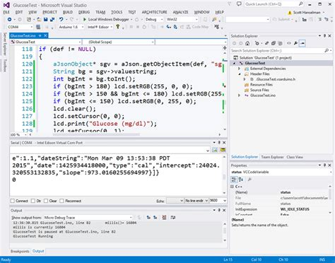 arduino code visual studio arduino 101 with an intel edison hooking up json to an