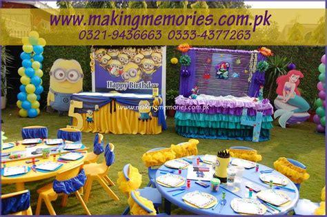 minions amp little mermaid making memories kids birthday