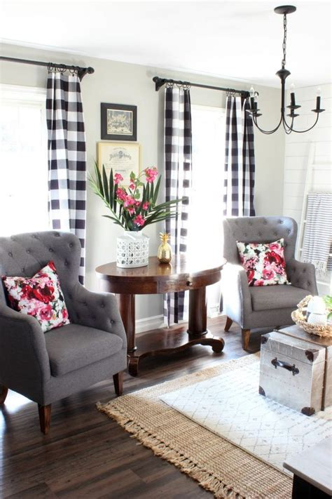 great curtain ideas best living room curtains living room summer home living room with black and white buffalo check