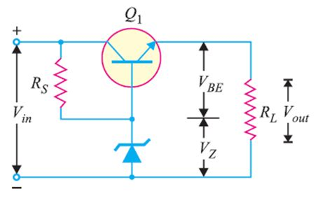 voltage regulator using zener diode and bjt transistor series voltage regulator electronics post