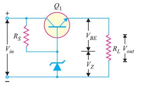 transistor voltage regulator transistor series voltage regulator electronics post