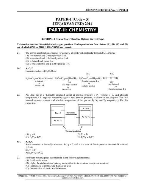 paper pattern of jee advanced 2014 paper pattern of jee advanced 2014 iit jee advanced 2014