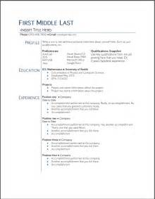 College Student Resume Templates by Free Your Resume College Student Resume Bariol