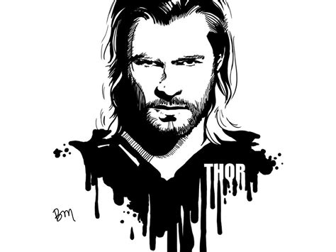 imagenes blanco y negro super heroes thor by beckymamallapalli on deviantart
