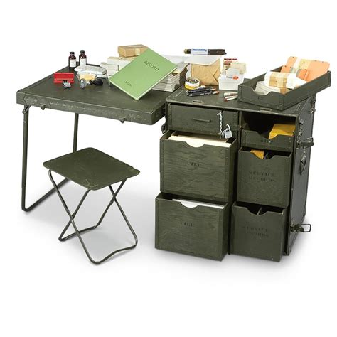 Army Desk new u s m1952 field desk 160725 field gear at sportsman s guide