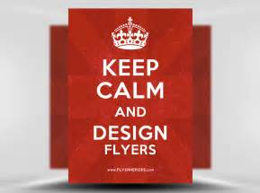 free keep calm and carry on flyer poster template