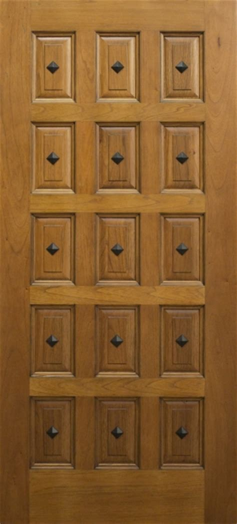 15 Panel Exterior Door Door Of The Week 15 Panel Entry Door With Clavos
