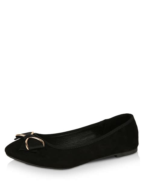 new look shoes flats buy new look bow trim flats for s black flat