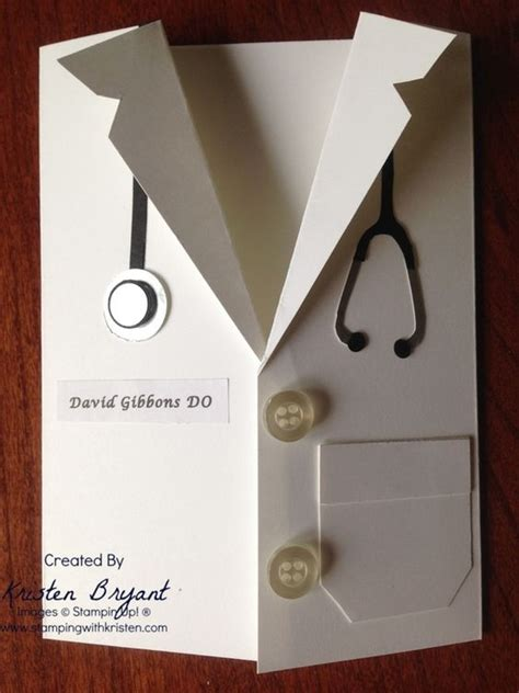 lab coat card template school grad card white coat card punch www
