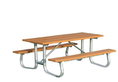 galvanized picnic table frame galvanized frame picnic table 8 commercial site