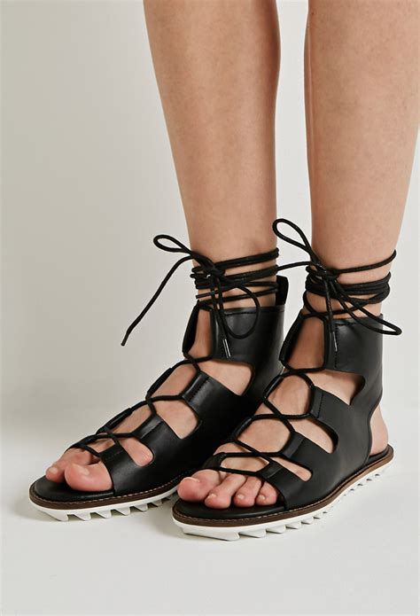 are forever 21 shoes comfortable forever 21 faux leather lace up gladiator sandals you ve