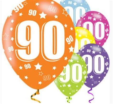 decoratie 90 jaar 90 jaar ballonnen gekleurd j style deco nl online