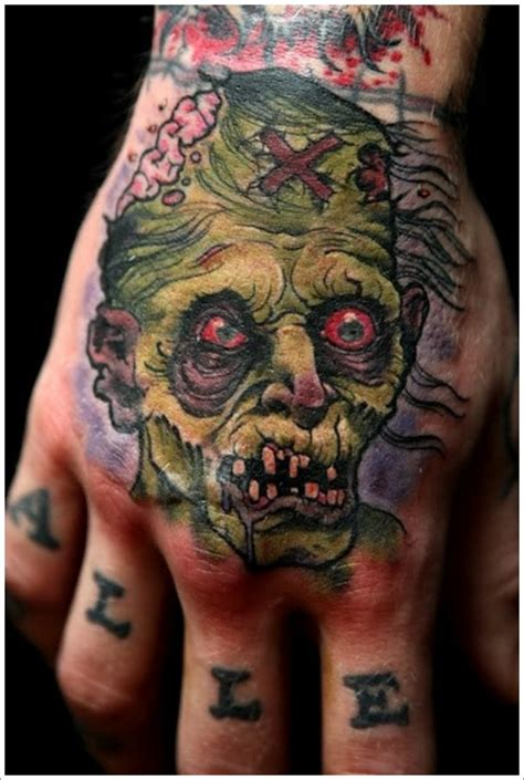 tattoo zombie pictures 20 awesomely creepy horror tattoo designs