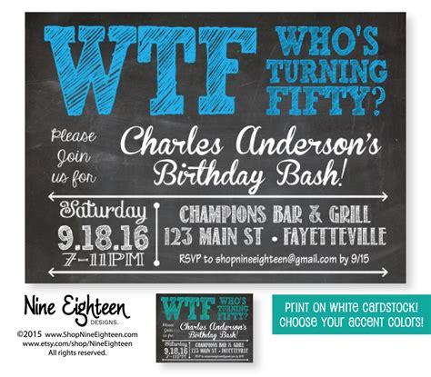 50th Birthday Invitations by 50th Birthday Invitation Who S Turning By