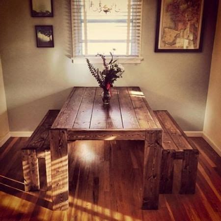 would love a kitchen table like this modern farm table