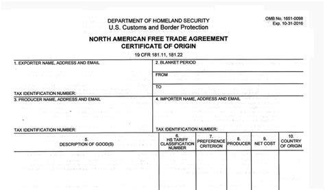formato nafta 2016 idconline certificado de origen tlcan con cambios