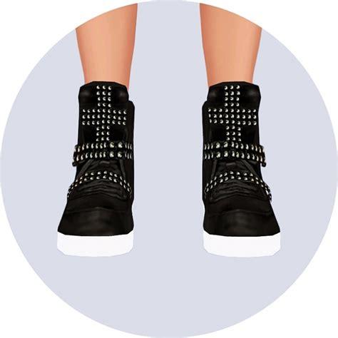 cross stud high top sneakers at marigold 187 sims 4 updates