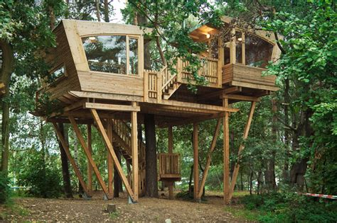 almke treehouse by baumraum provides gathering place for