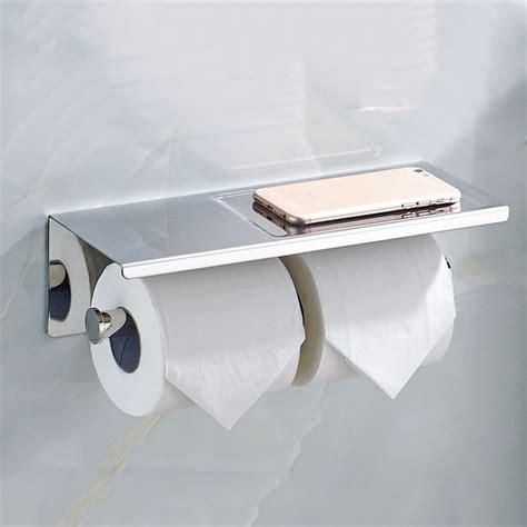 toilet paper shelf new bathroom double toilet roll tissue paper shelf phone