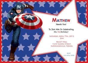 captain america birthday invitation custom digital print file avengers 5 00 etsy