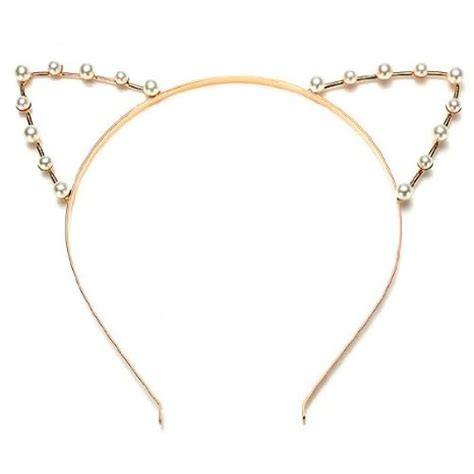 Ear Cat Bando Kucing Korea Gold cat ear hair band cat ear hair band