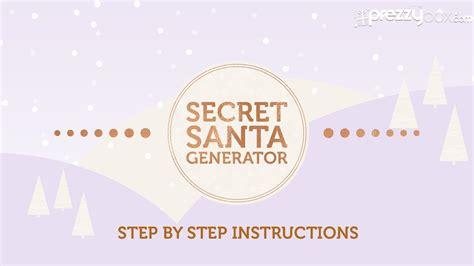 secret generator prezzybox secret santa generator how it works