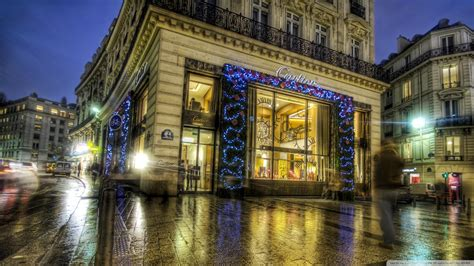 wallpaper christmas in paris cartier in paris at christmas hdr wallpaper travel and