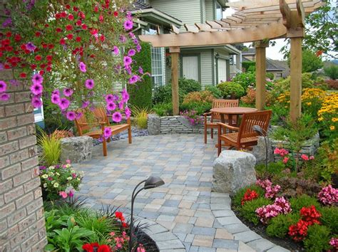 24 Paver Patio Designs Garden Designs Design Trends Patio Designs Photos