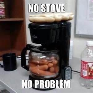 Sexy Dog Meme - no stove no problem