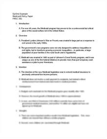 Policy Essay by Policy Paper Outline Exle Outline Exle Medicaid Policy Paper Fmsc 381