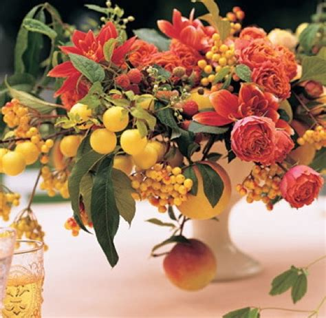 fruit flower ideas for wedding centerpieces without flowers the